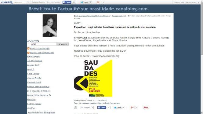 Blog Brasilidade - Exposição Saudades - Dulce Araujo