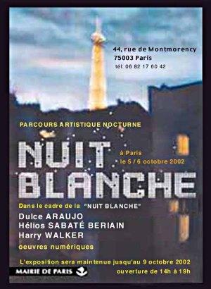 Cartaz - Nuit Blanche - Dulce Araújo -Montmorency