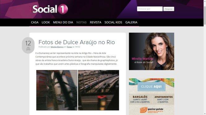 Clipping Artista Dulce Araujo - Blog Social 1