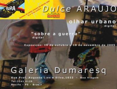 Convite - Exposição Galeria Dumaresg - Dulce Araujo - 2005