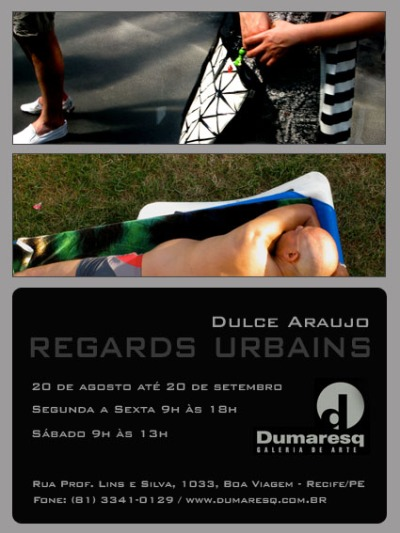 Convite Exposição Regards Urbains - Dulce Araujo - Dumaresq Galeria