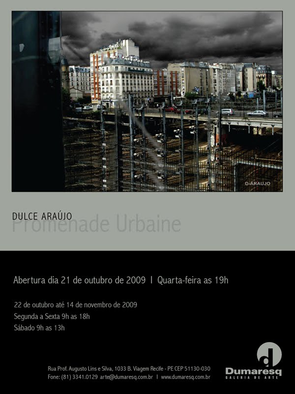 Exposição Promenade Urbaine - Dulce Araujo - Dumaresq Galeria