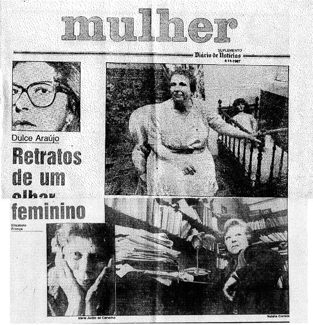 Retratos de um olhar feminino - Matéria no Diário de Notícias - Portugal